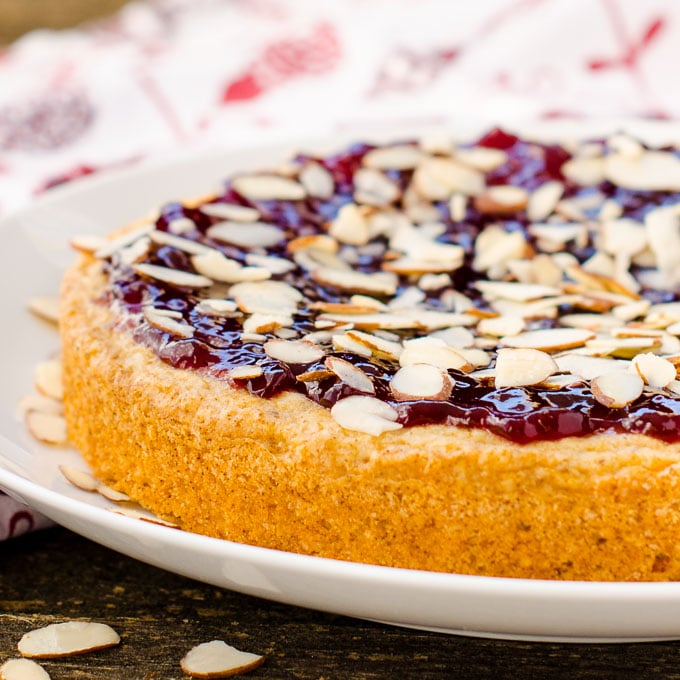 Raspberry Almond Torte | Magnolia Days