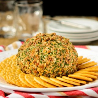Brandied Triple Cheese Ball for #SundaySupper