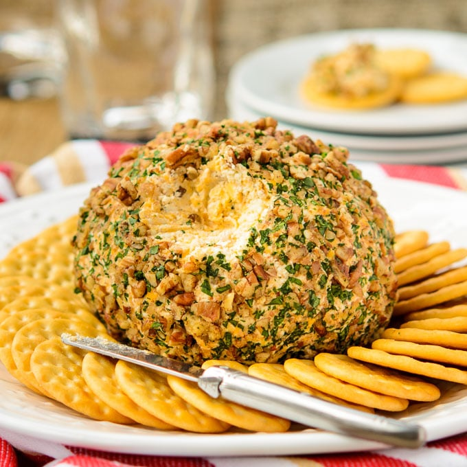 Brandied Triple Cheese Ball | Magnolia Days