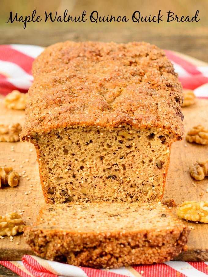 Maple Walnut Quinoa Quick Bread | Magnolia Days