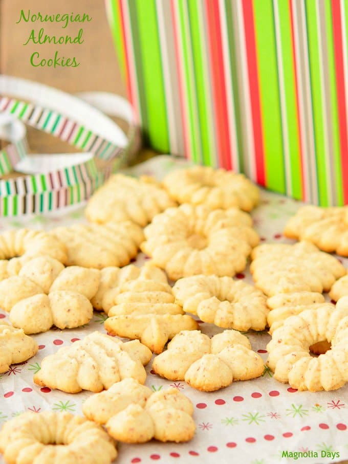 Norwegian Almond Cookies   Magnolia Days