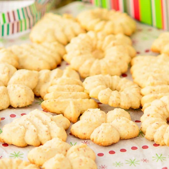 Cookie Recipies For Christmas.Norwegian Almond Cookies