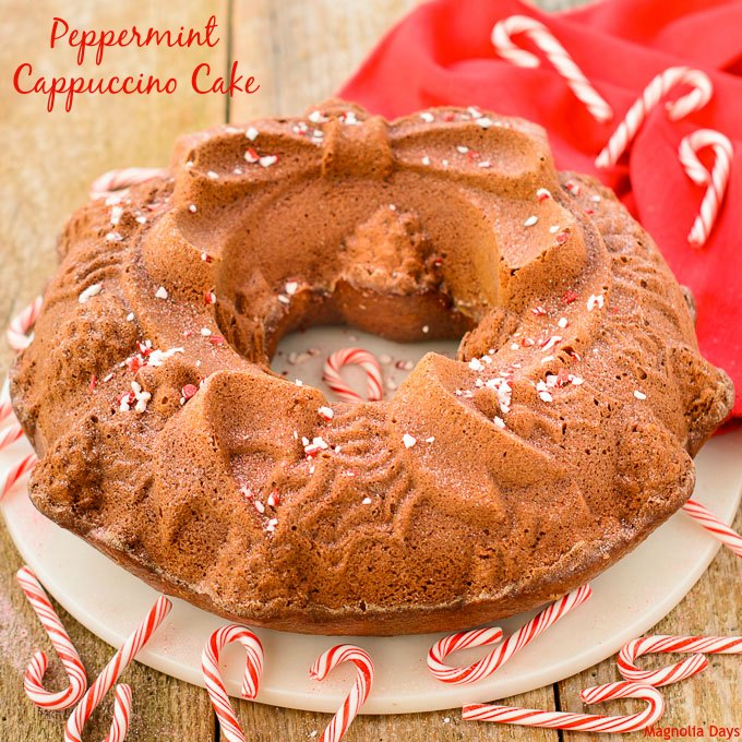 Peppermint Cappuccino Cake | Magnolia Days