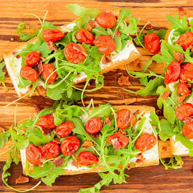 BLT Goat Cheese French Bread   Magnolia Days