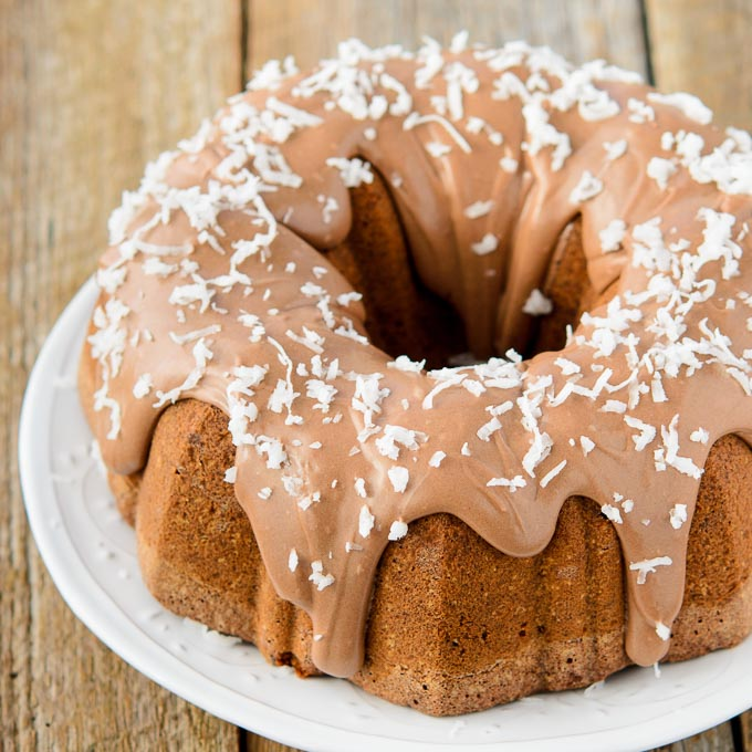 Chocolate Italian Cake with Chocolate Cream Cheese Glaze   Magnolia Days