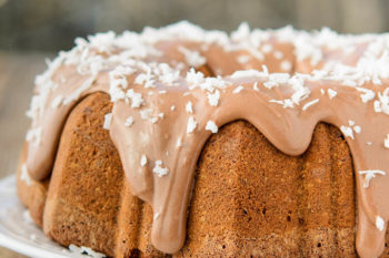 Chocolate Italian Cake with Chocolate Cream Cheese Glaze | Magnolia Days