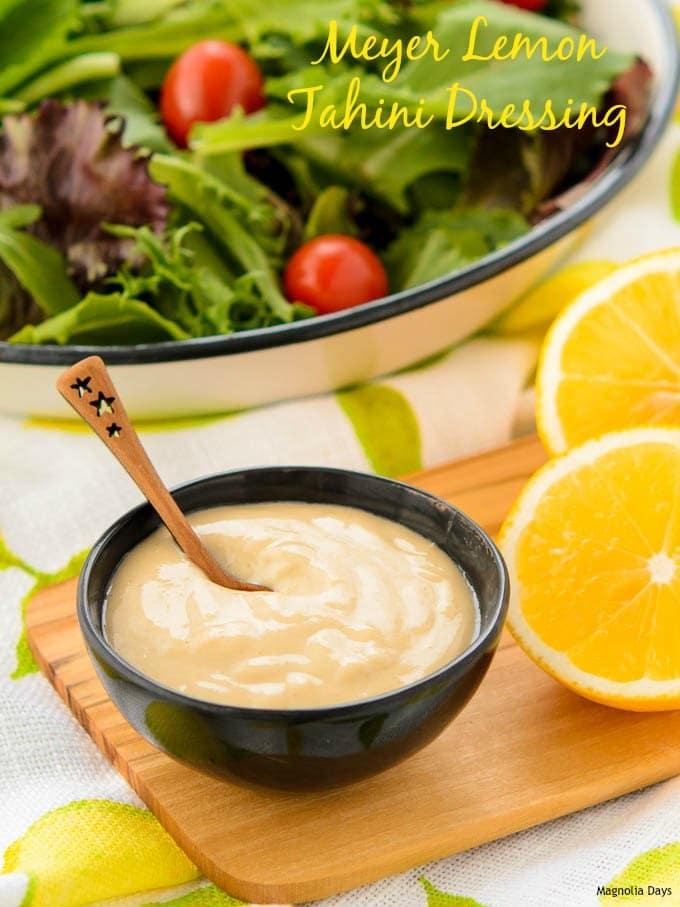 Meyer Lemon Tahini Dressing | Magnolia Days