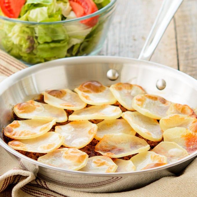 Potato Topped Sloppy Beef Skillet   Magnolia Days