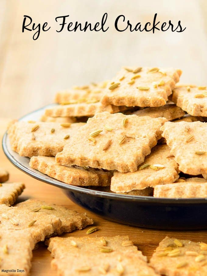 Rye Fennel Crackers | Magnolia Days