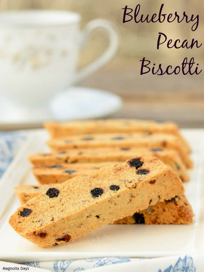 Blueberry Pecan Biscotti   Magnolia Days