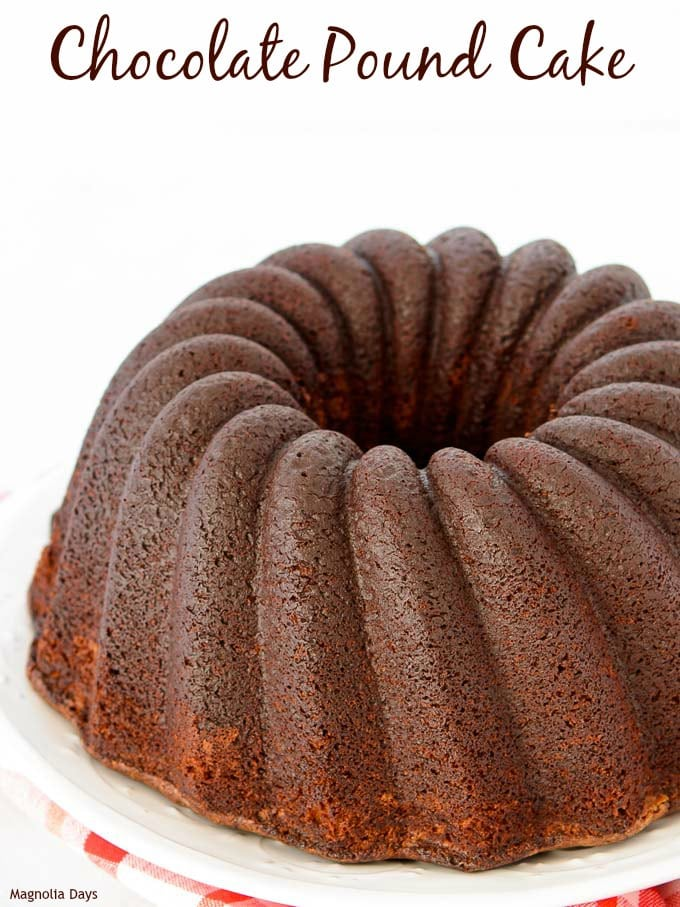 Chocolate Pound Cake for #BundtBakers