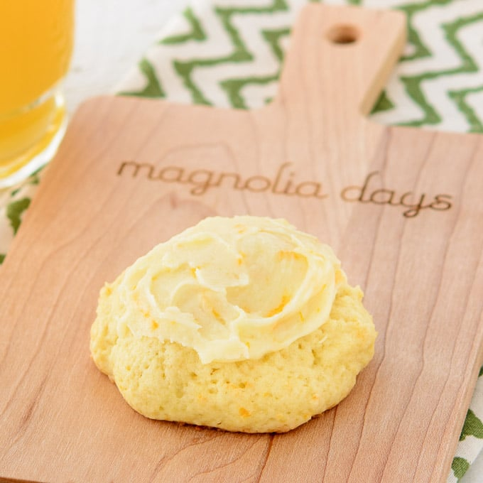 Frosted Orange Cookies   Magnolia Days