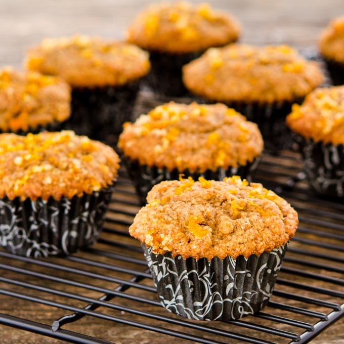 Pear Bran Muffins Topped with Orange Zest | Magnolia Days