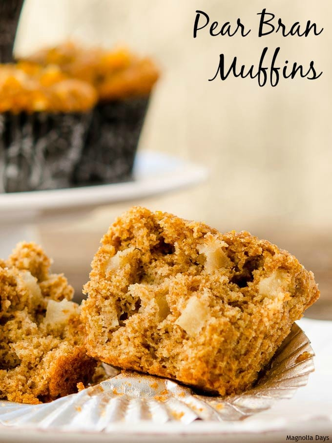 Pear Bran Muffins | Magnolia Days