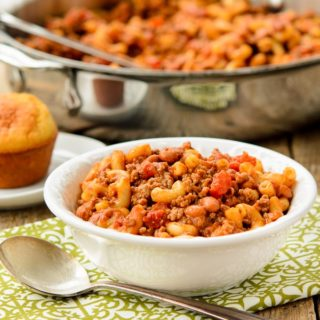 Skillet Chili Mac for #WeekdaySupper with #McSkilletSauce