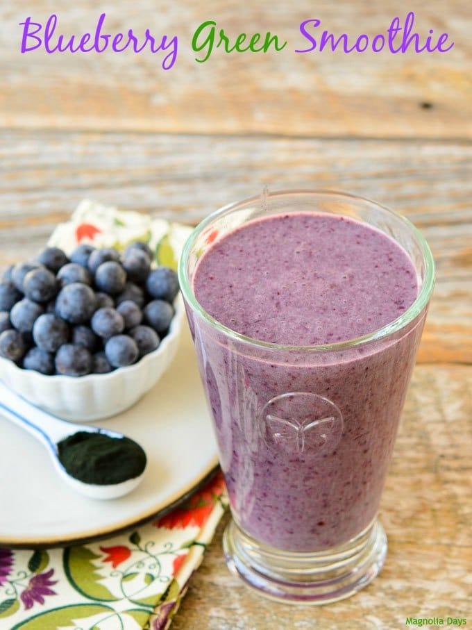 Blueberry Green Smoothie | Magnolia Days