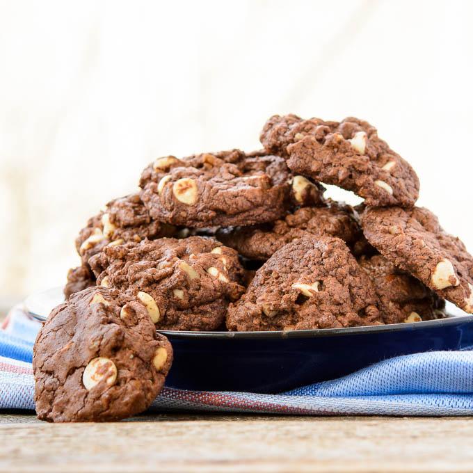 Double Chocolate Brownie Cookies   Magnolia Days