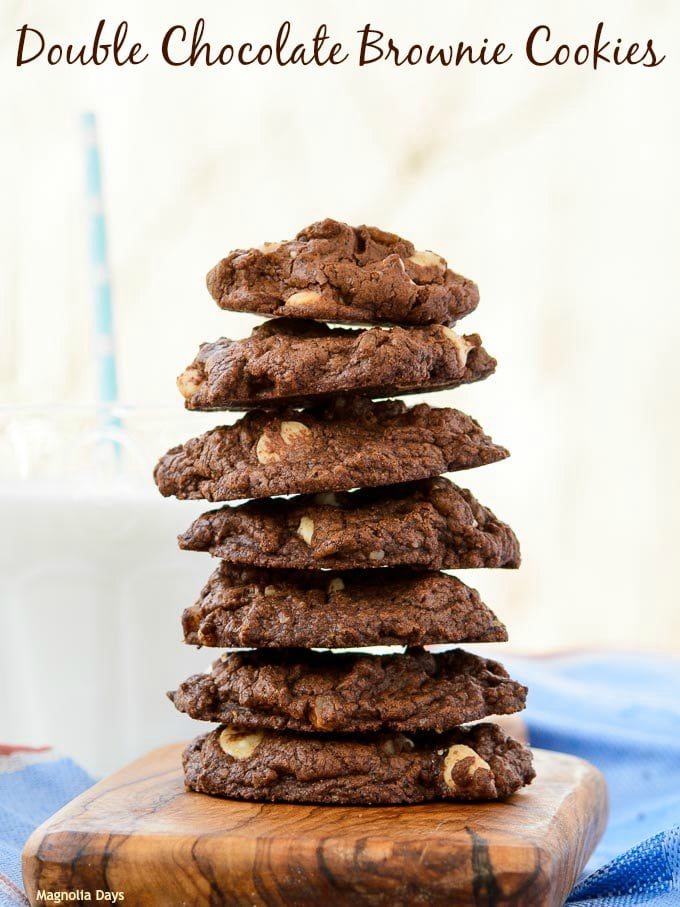 Double Chocolate Brownie Cookies | Magnolia Days