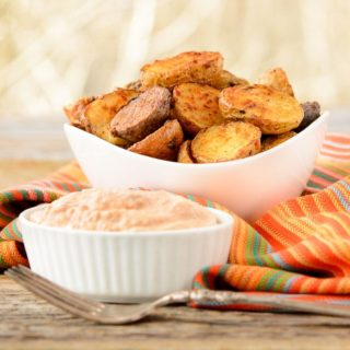 Hatch Chile Spiced Roasted Potatoes and Sauce