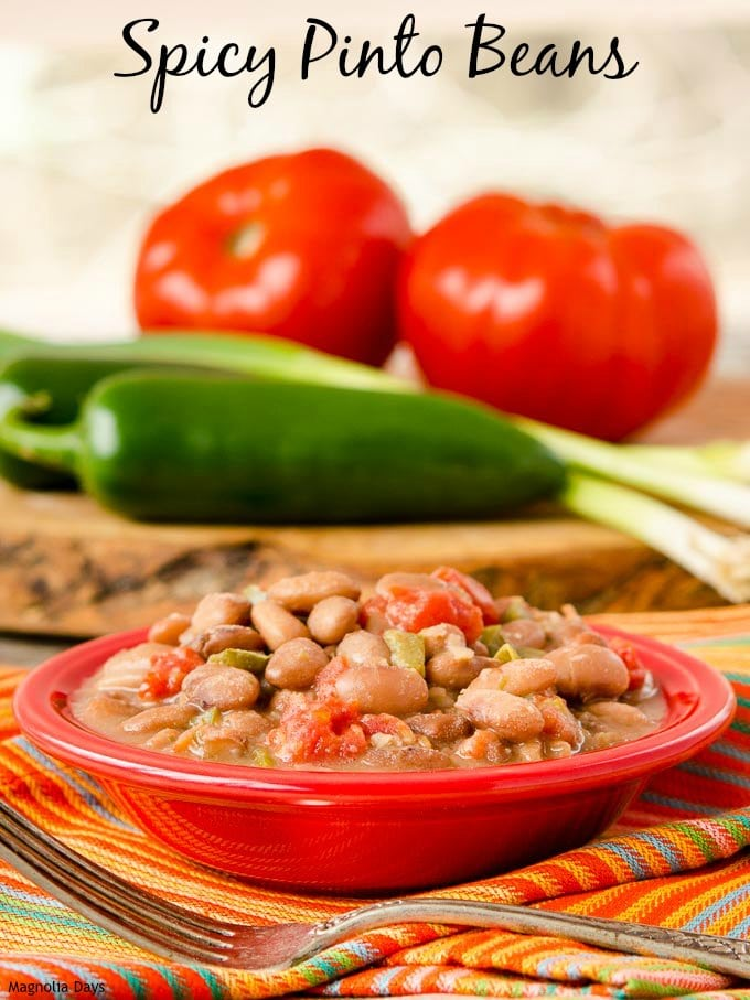 Spicy Pinto Beans | Magnolia Days