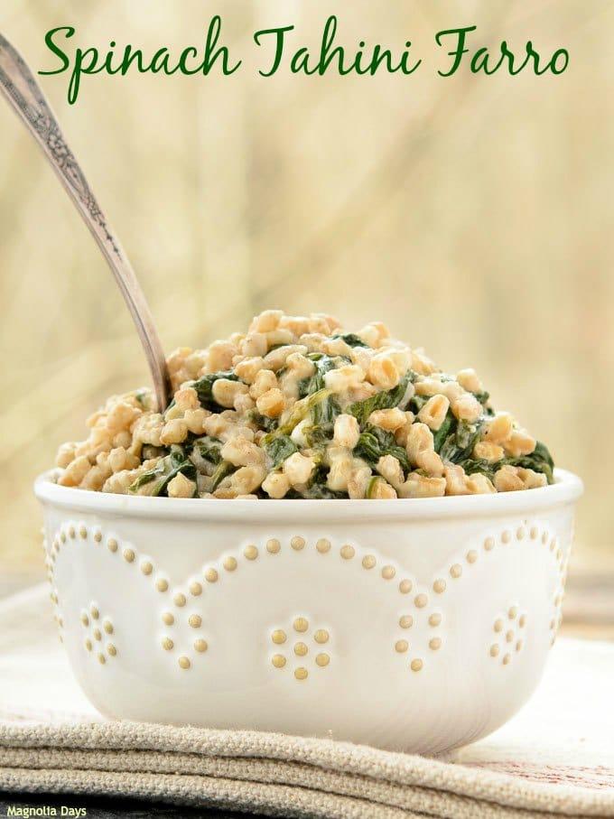 Spinach Tahini Farro   Magnolia Days