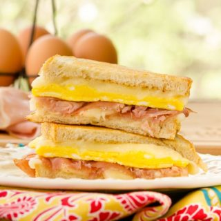 Egg Prosciutto Grilled Cheese for #SundaySupper