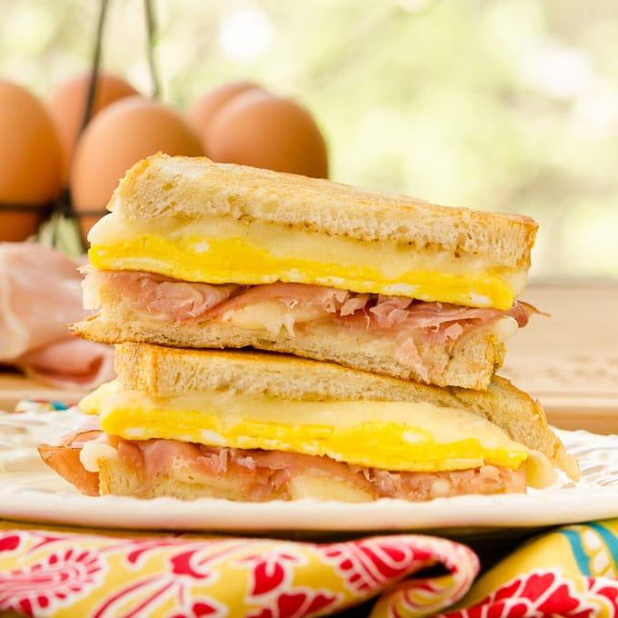 Egg Prosciutto Grilled Cheese Sandwich   Magnolia Days