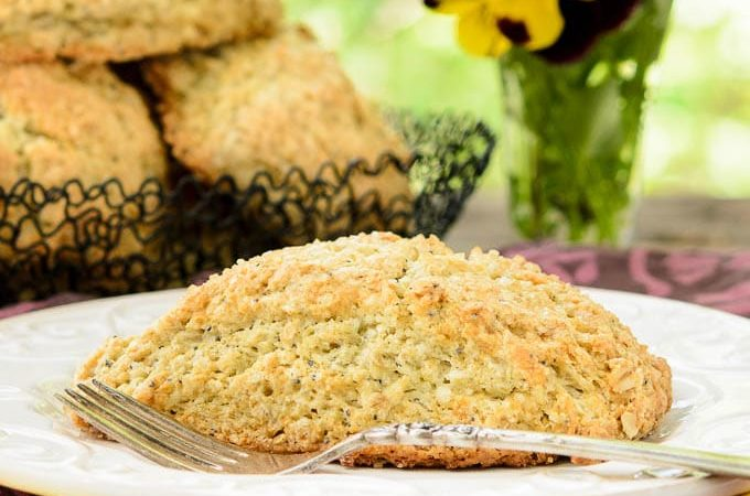 Lavender Poppy Seed Scones | Magnolia Days