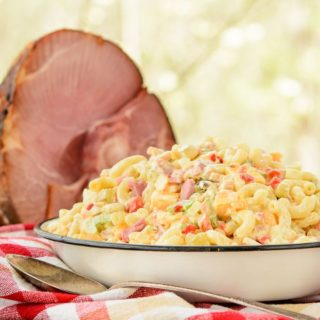 Southern Ham Macaroni Salad for #SundaySupper