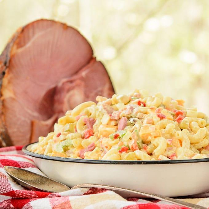 Southern Ham Macaroni Salad | Magnolia Days