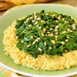 Spinach Topped Creamy Orzo Pasta | Magnolia Days