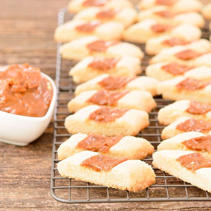 Caramel Shortbread Cookie Strips   Magnolia Days