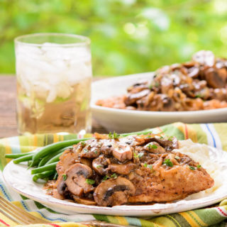 Garlicky Balsamic Chicken and Mushrooms