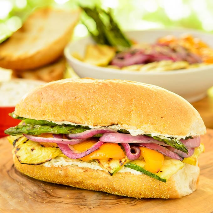 Grilled Vegetable Sandwiches | Magnolia Days