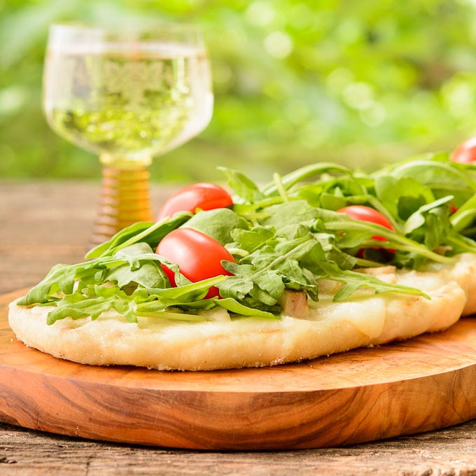 Grilled Wine and Cheese Pizza | Magnolia Days