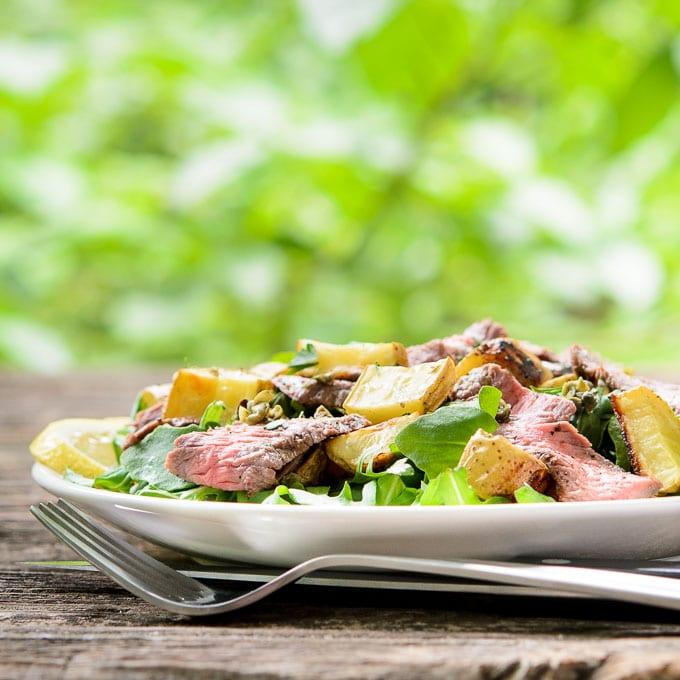 Lemon Pepper Steak Salad | Magnolia Days