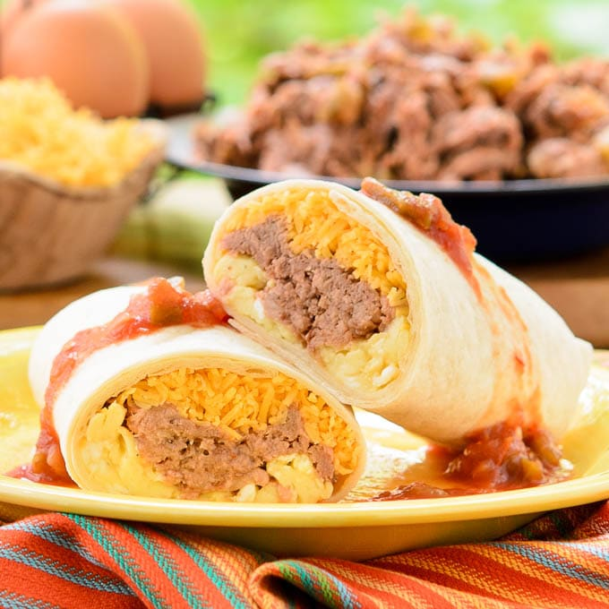 Mexican Shredded Beef Breakfast Burritos | Magnolia Days