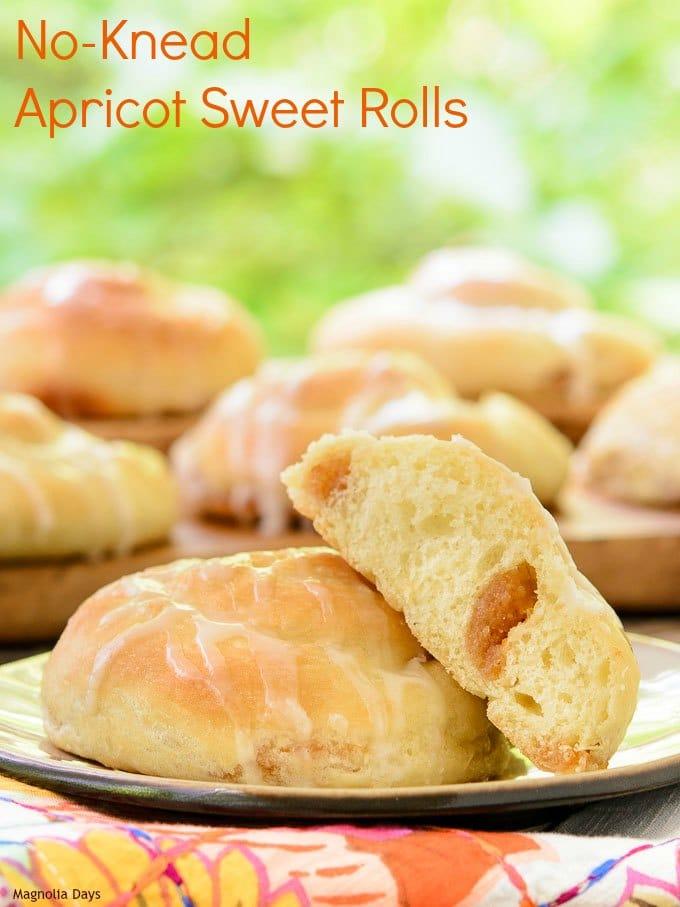 No-Knead Apricot Sweet Rolls | Magnolia Days