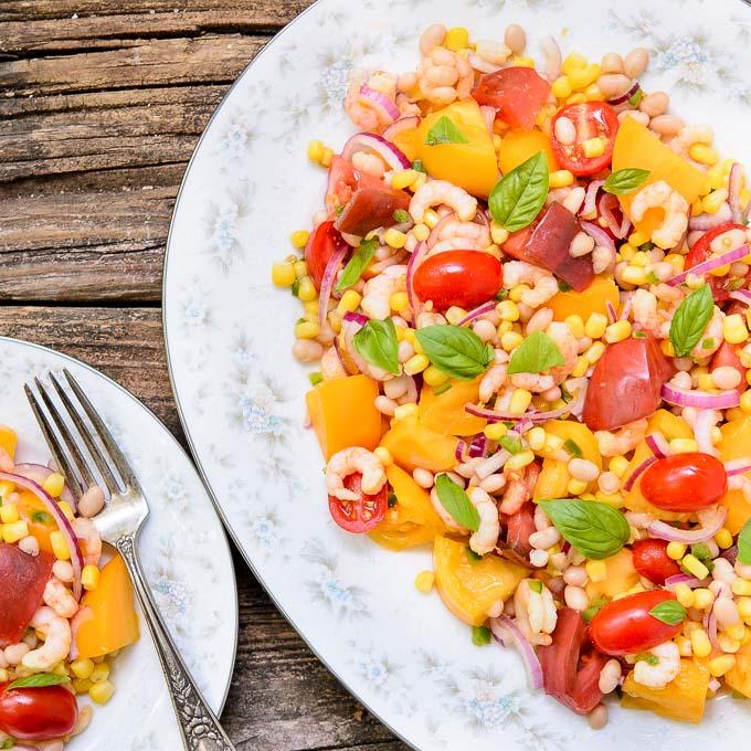 Summer Shrimp Tomato Salad | Magnolia Days