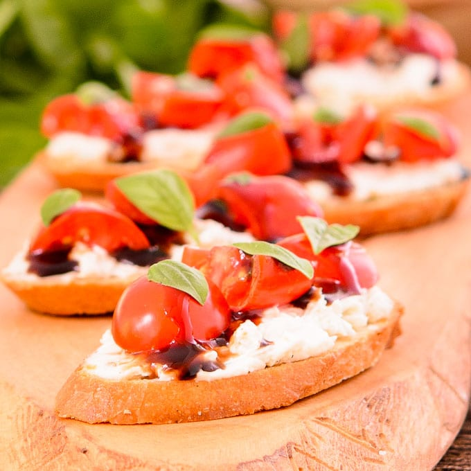Tomato Blue Cheese Crostini | Magnolia Days