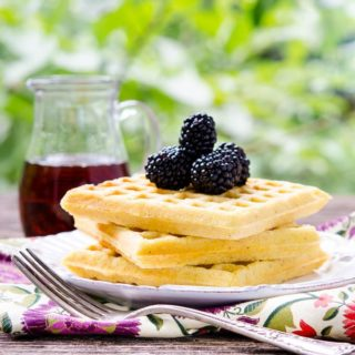 Cornmeal Buttermilk Waffles | Magnolia Days
