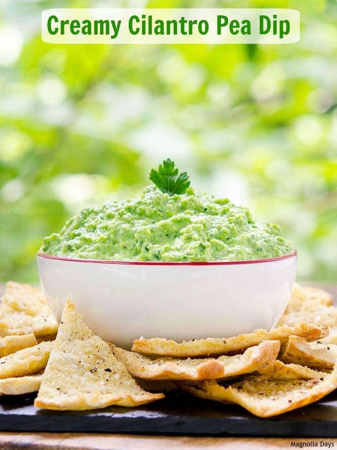 Creamy Cilantro Pea Dip | Magnolia Days