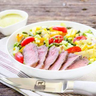 Grilled Vegetable Steak Salad for #SundaySupper #GrillTalk
