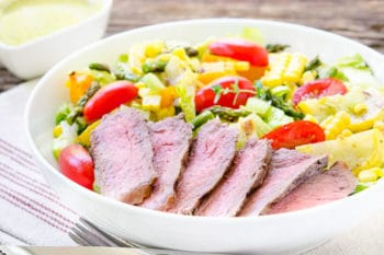 Grilled Vegetable Steak Salad for #SundaySupper #GrillTalk