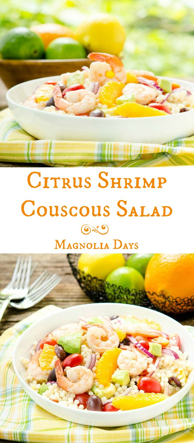Citrus Shrimp Couscous Salad is like summer in a bowl. It's fast, light, and full of flavor.