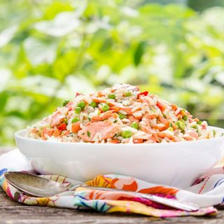 Grilled Salmon Rice Salad