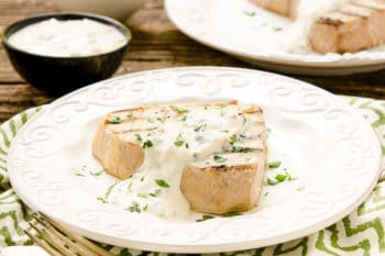 Grilled Tuna with Mediterranean Yogurt Sauce | Magnolia Days
