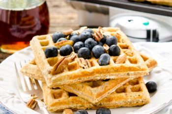 Honey Nut Oatmeal Waffles | Magnolia Days