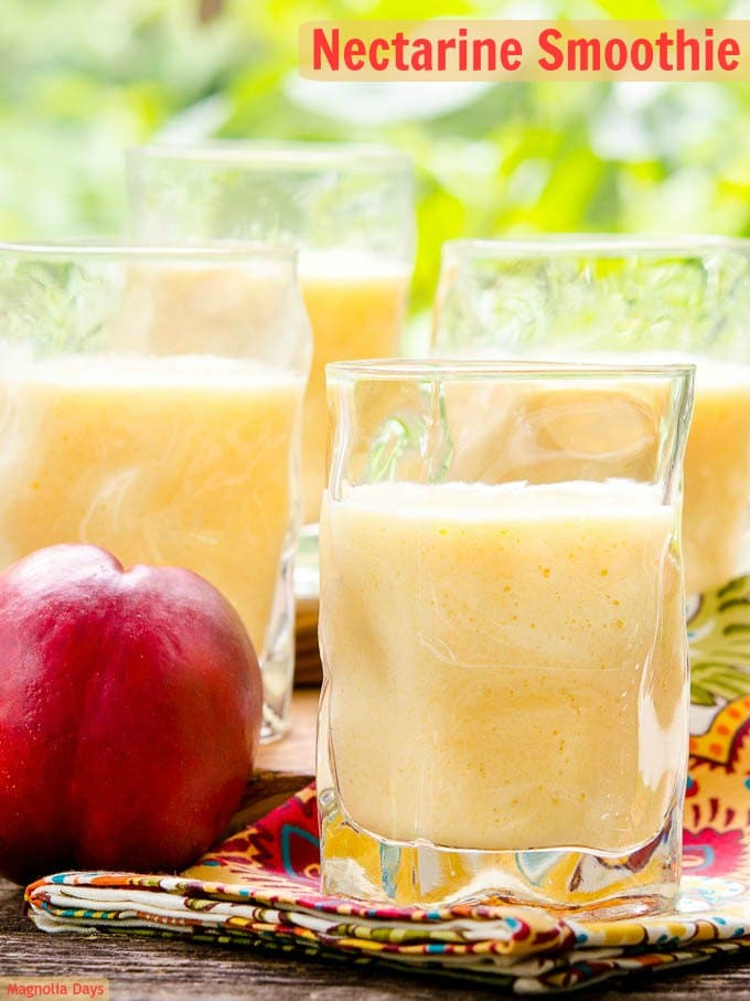 Nectarine Smoothie | Magnolia Days