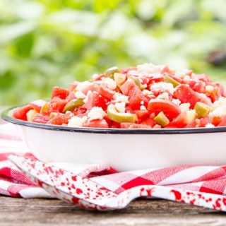 Olive Tomato Salad for #SundaySupper